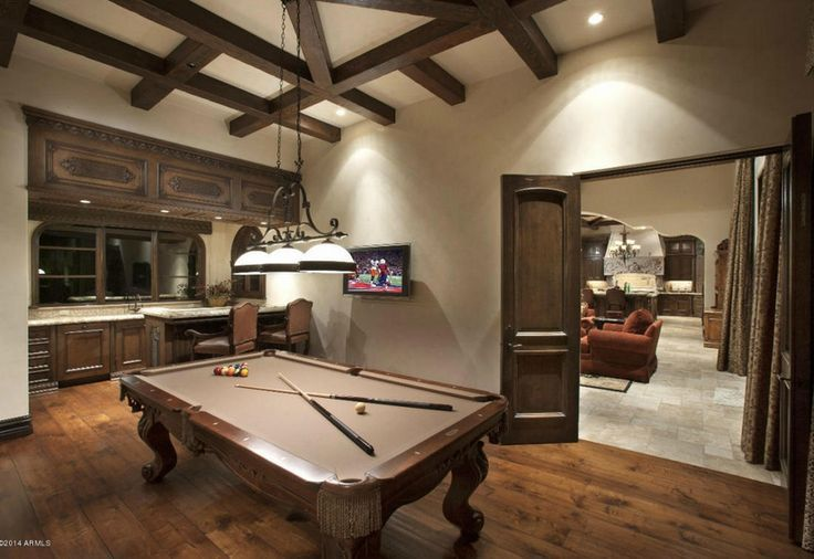 Billiards Room With Bar Man Caves Home Custom Home