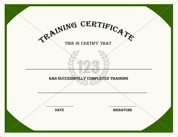 Training Certificates Templates Certificate Template – Training Certificates Templates Free Download