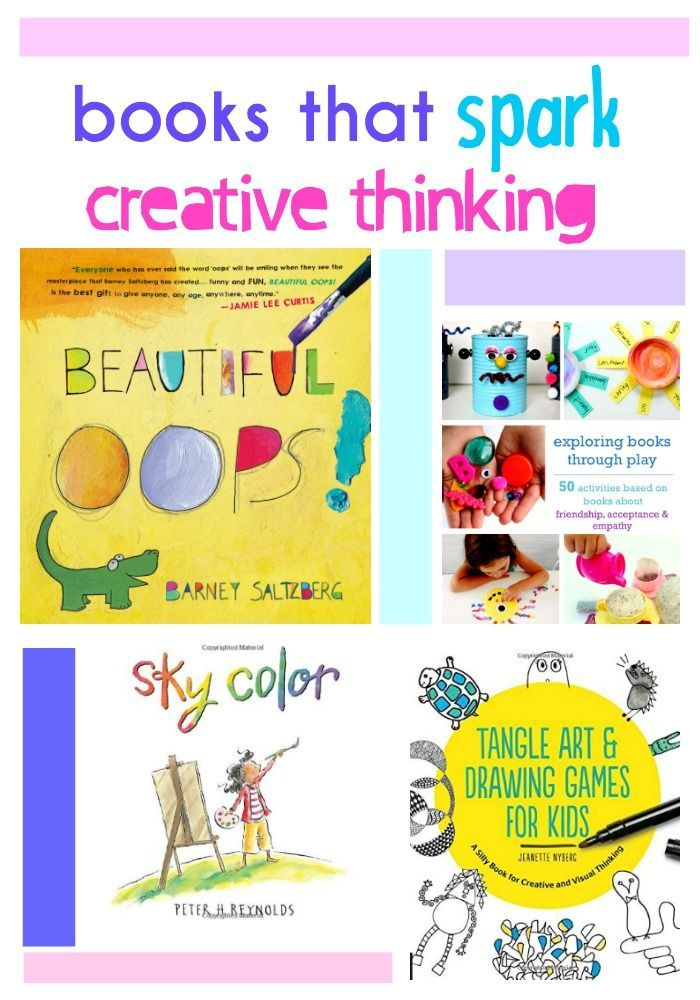 Books That Spark Creative Thinking Creative Thinking Activities Creative Thinking Book Themed Activities