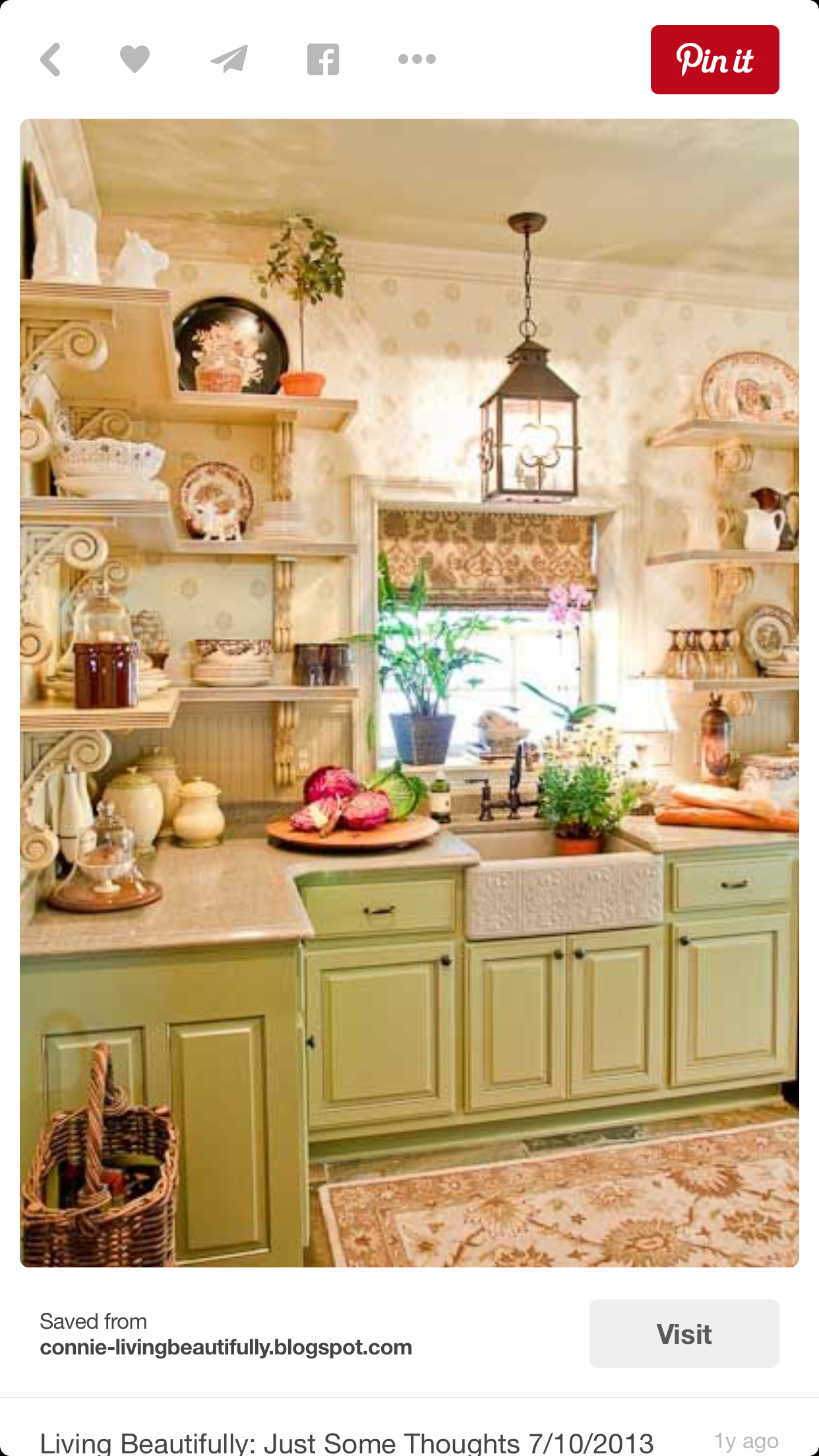 ***Gorgeous color on cabinets
