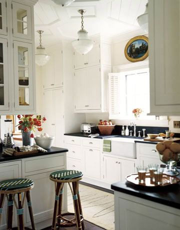 Classic White Galley Kitchen a classic white kitchen in new jersey | kitchens