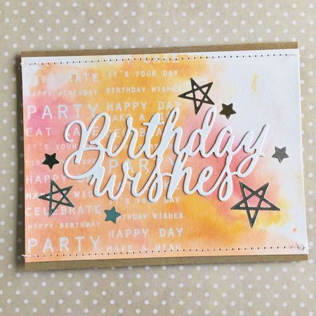 Sentiment Signs Revisited: Birthday Wishes Card by Heather Nichols for Papertrey Ink (June 2016)