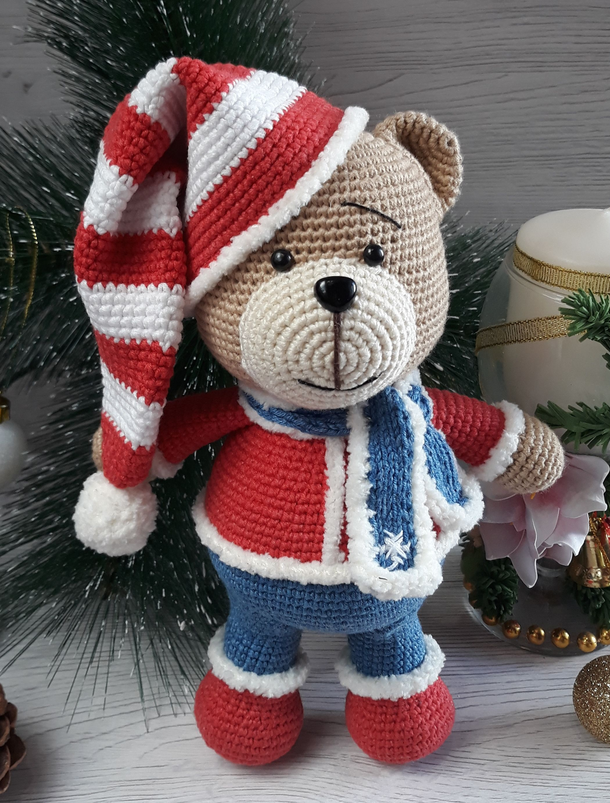CHRISTMAS BEARS - PATTERN CROCHET AMIGURUMI #instructionstodollpatterns