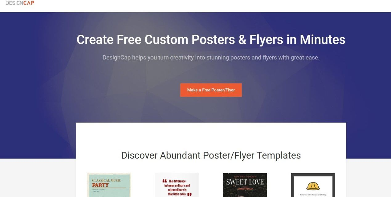 Designcap Review Free Online Poster Maker To Design Posters Online Poster Maker Online Posters Poster Maker