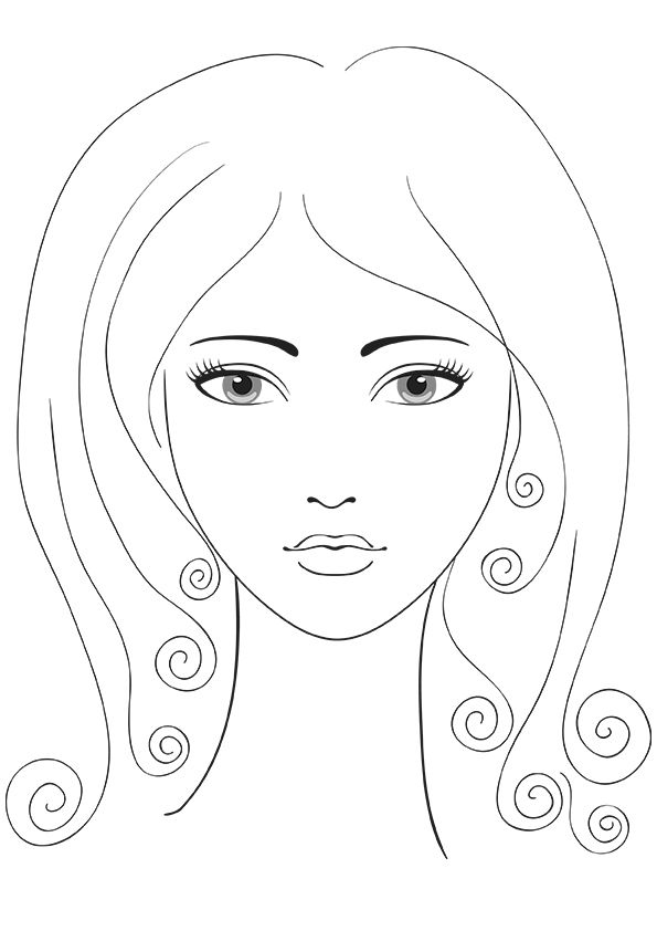 picture about Printable Face Templates named Relive Your Childhood! Cost-free Printable Coloring Internet pages for