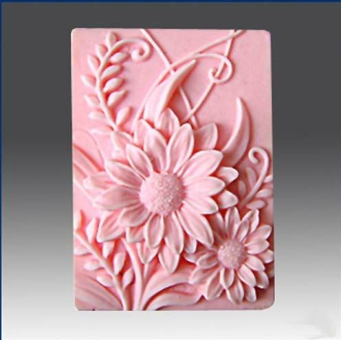 Soap Mold Flexible Flower Silicone Mold Animal Soap Mold New Style Floral Soap Mould