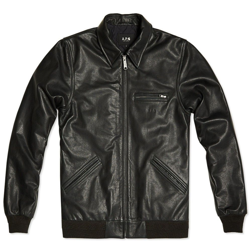 17f4f35fa A.P.C. x Carhartt Detroit Leather Jacket | How about a leather ...