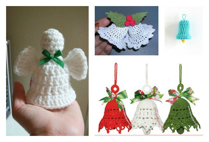 Free Christmas Bell Ornament Crochet Patterns | Them, Beautiful and ...