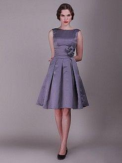 cf4cb796bf4 Geena - Γραμμή Α Αμάνικο Σατέν Φορέματα Κουμπάρας - EUR 117,32 € | Ό ...