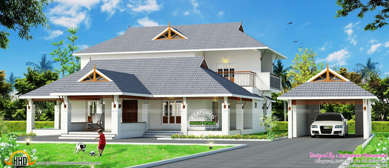 Image Result For Car Porch Kerala African House House Elevation