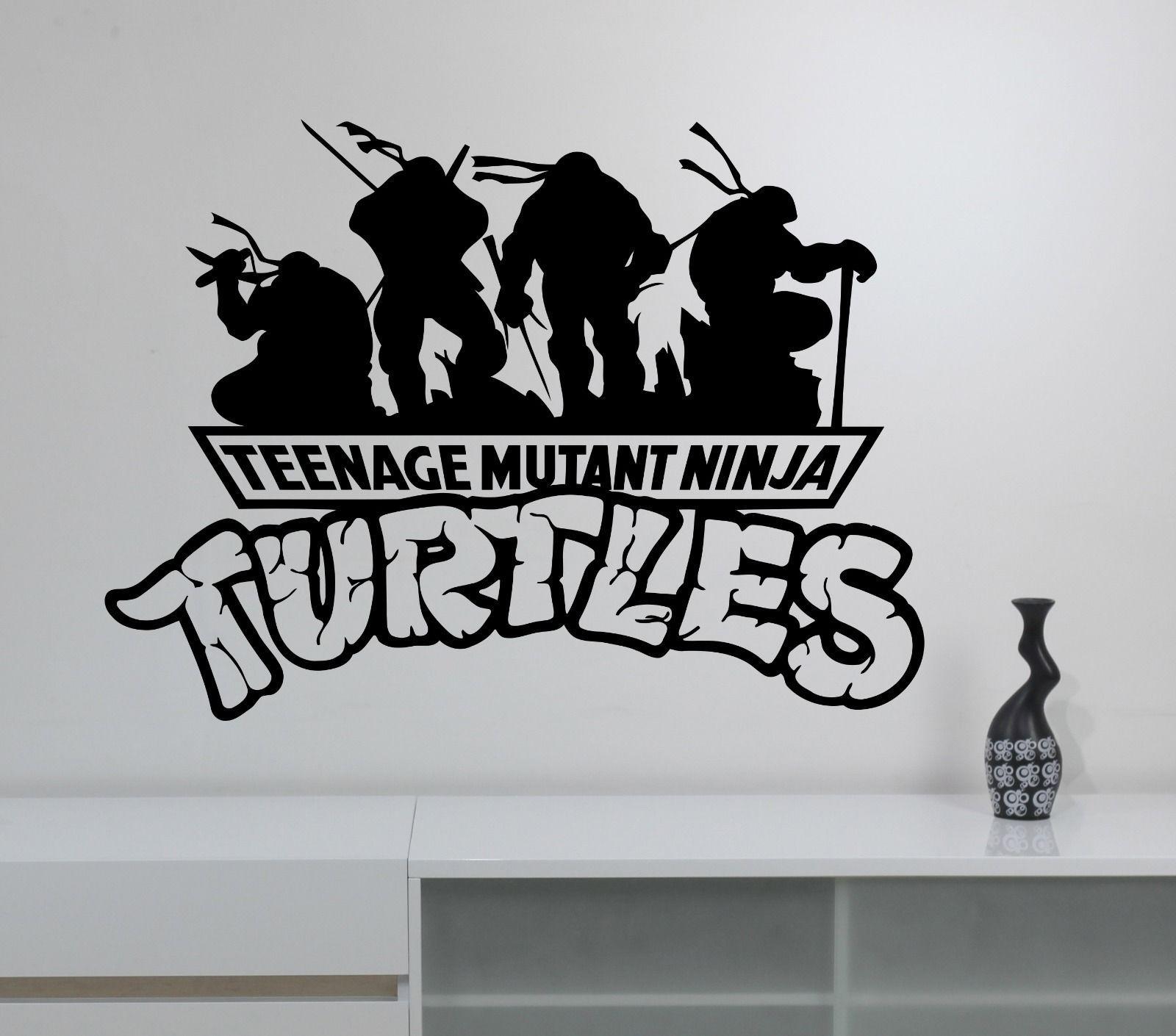 Ninja turtles wall decal superhero sticker vinyl art kids boys room
