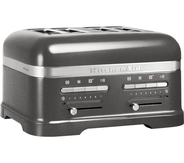 kitchenaid 5kmt4205bms artisan 4 slice toaster from Currys Kitchen ...