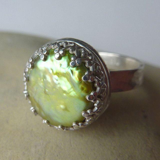 Green Pearl Ring | Flickr - Photo Sharing!