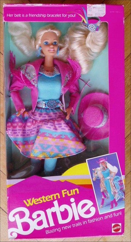 Barbie Western Fun Centerblog Sam Barbie années 90