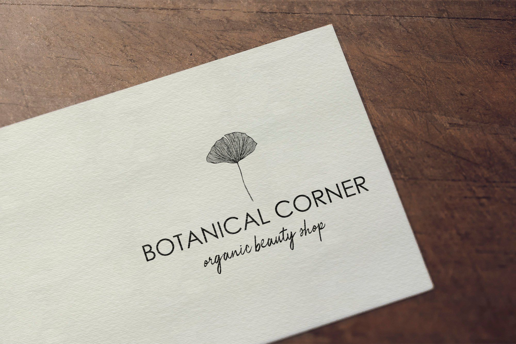 Botanical Logo Natural Logo Organic Logo Design Premade Logo
