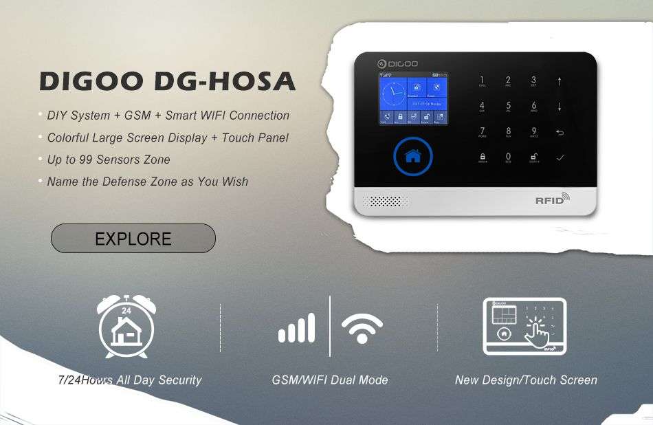 Digoo DG-HOSA 433MHz Window Door Sensor PIR Detector Wireless Remote