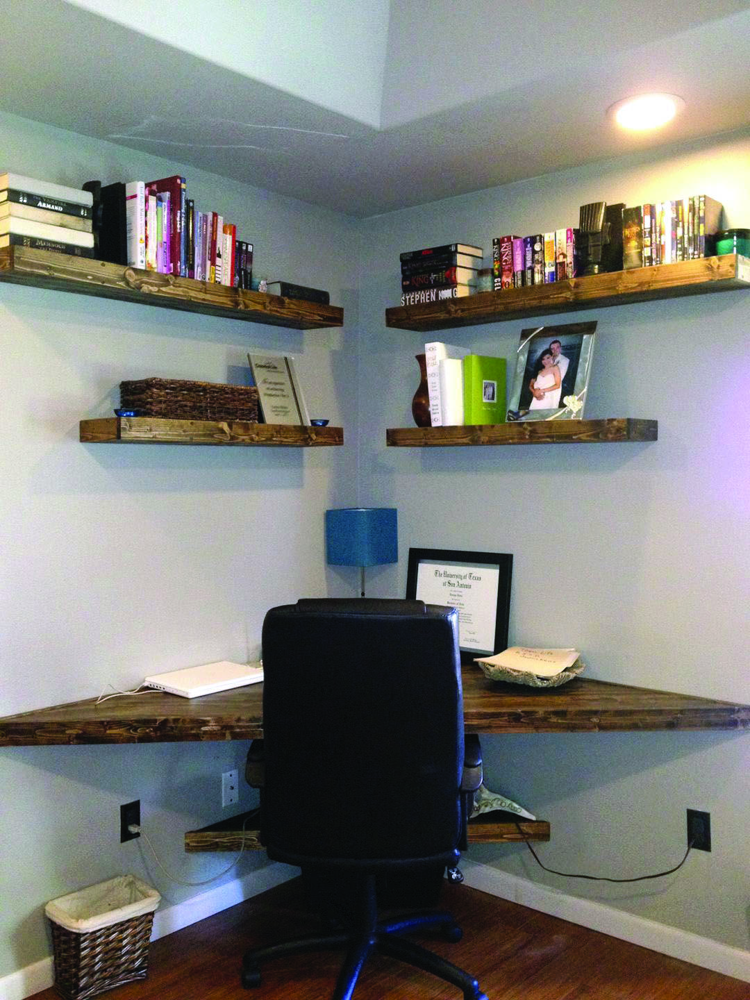 Unbelievable Pier 1 Corner Shelves For Your Home Diy Corner Desk Floating Corner Desk Home Office Design
