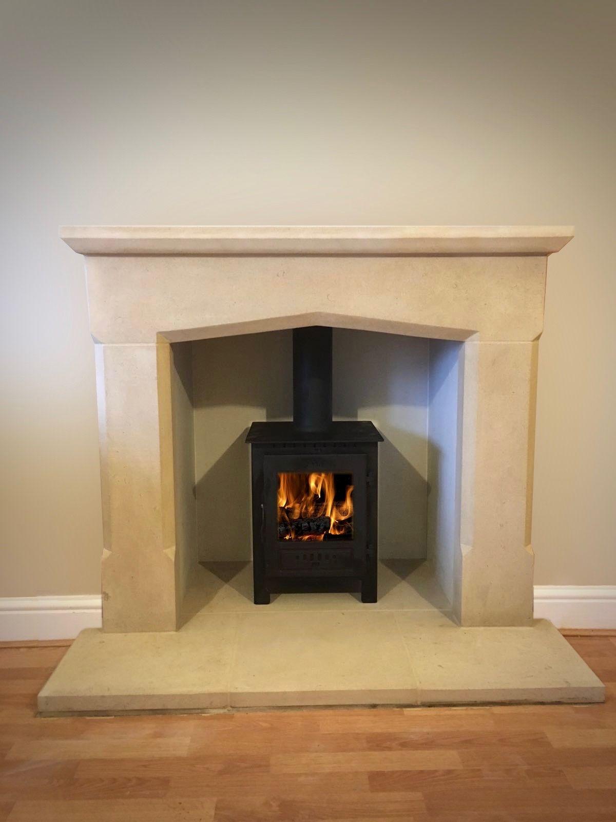 Esse 1se Wood Burning Stove Yorkshire Stone Fireplace Surround