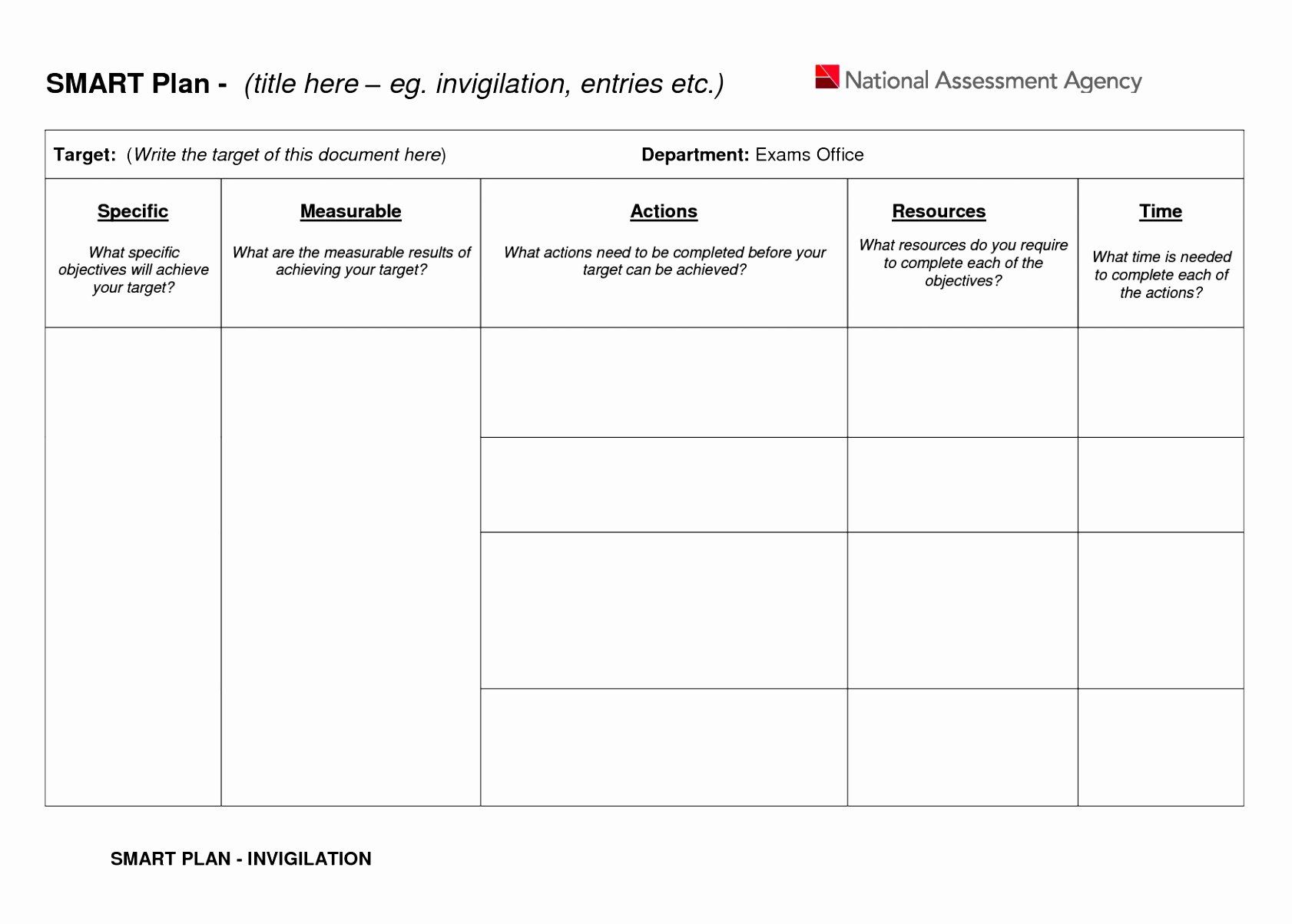 Smart Action Plan Template Luxury 6 Smart Action Plan