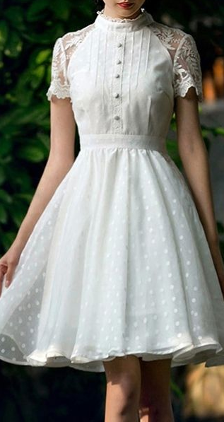 1e2417c49736 sheer dot retro dress More