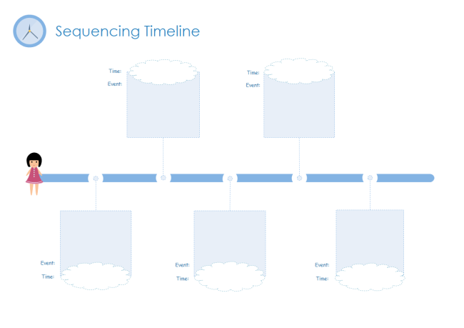 This Blank Timeline Template Is Useful When You Need To Display