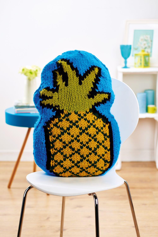 Pineapple cushion - Free Knitting Patterns - Homewares Patterns ...