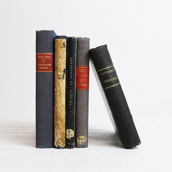 Blue Antique Books By Color Vintage For Decorating Book Bundle Decorative