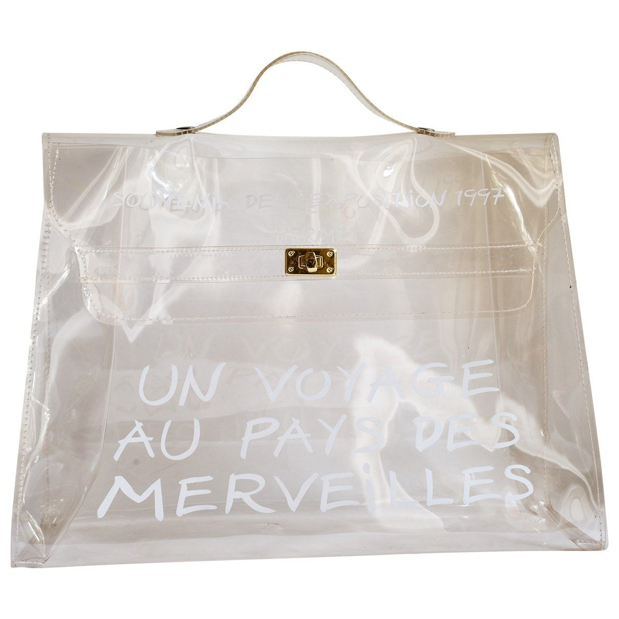 16c5f7fcf6 Borsa a mano Kelly 40 HERMÈS in Plastica - Vestiaire Collective ...