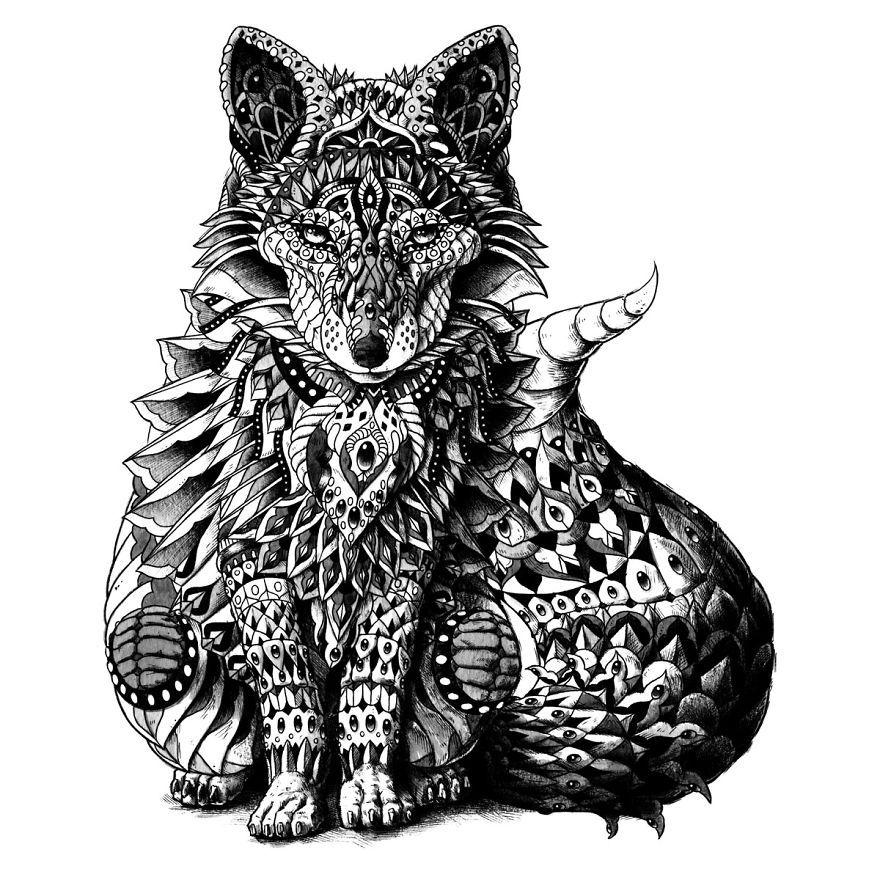Les dessins d 39 animaux orn s de bioworkz - Dessin d animeaux ...