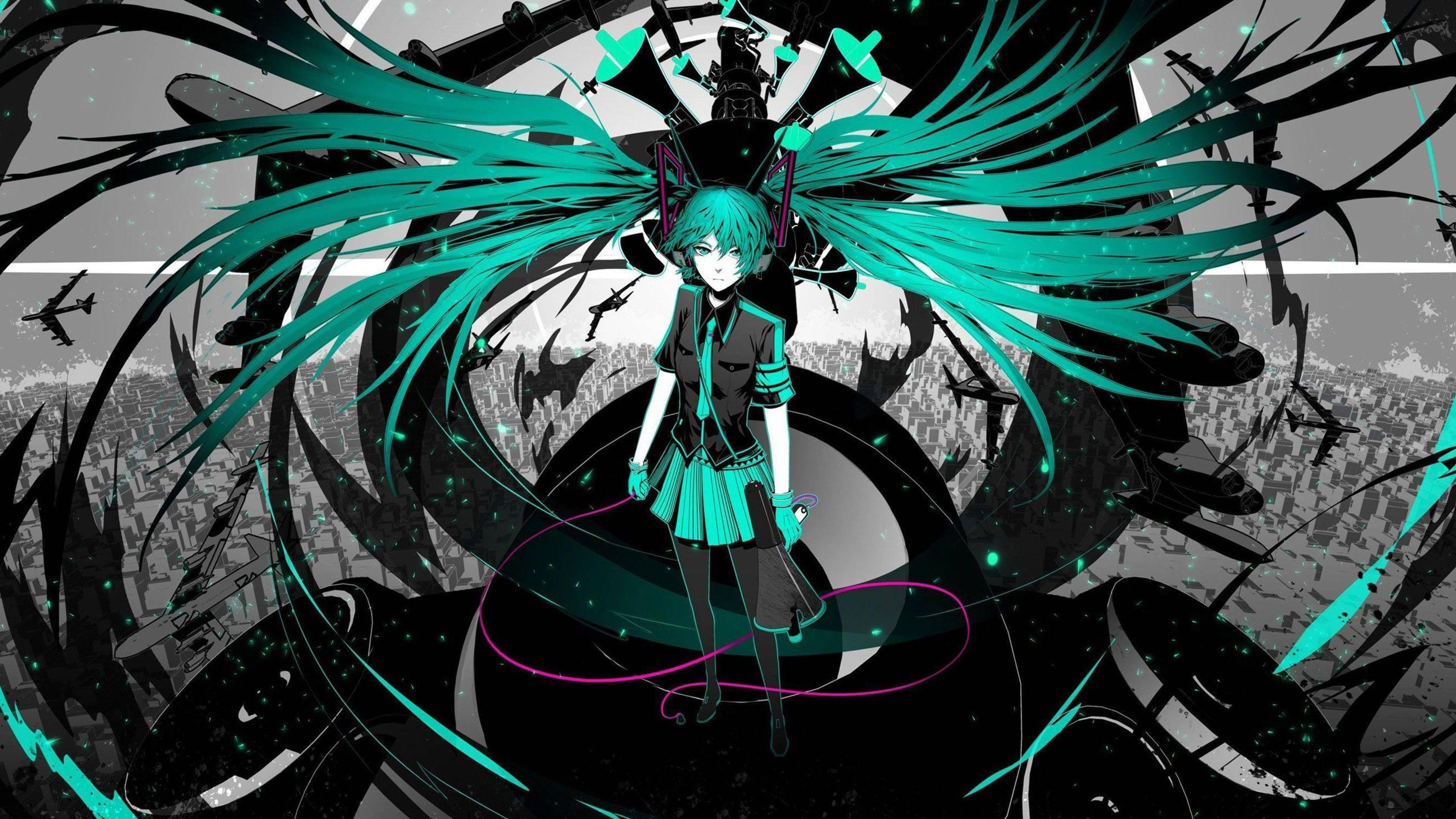 Hatsune Miku Vocaloid Long Hair Wallpaper Wide Or Hd Anime