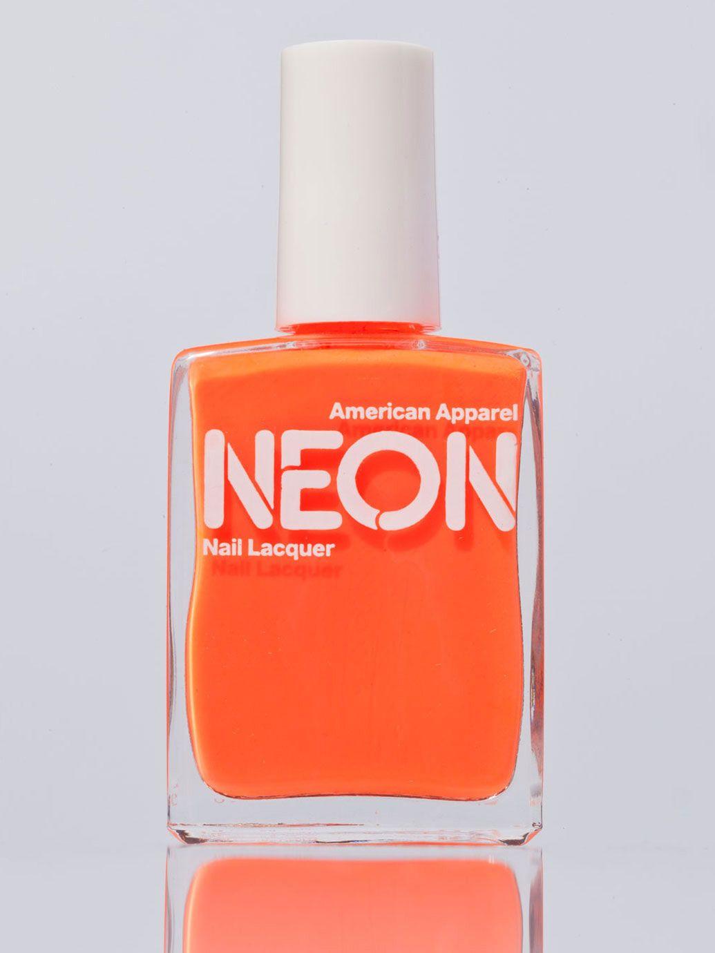 American Apparel Neon Nail Polish Neon Nails Neon Nail Polish
