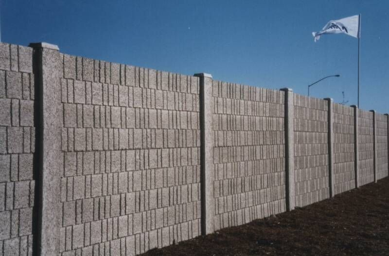 Concrete block fence design precast concrete fences for Concrete block walls design