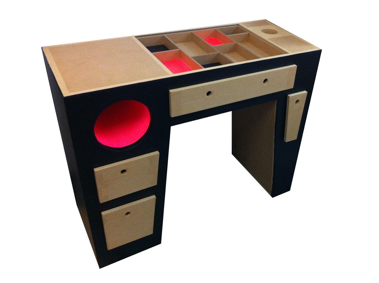 bureau en carton cardboard carton in 2018 pinterest cardboard furniture. Black Bedroom Furniture Sets. Home Design Ideas