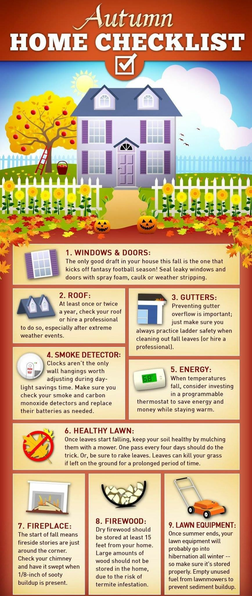 Home Maintenance Checklist Home Maintenance Checklist Home Maintenance Autumn Home