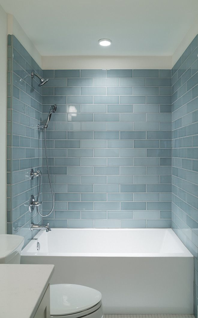 Look At The Incredible Bathtub Subway Tile 2x6 Blue Tile