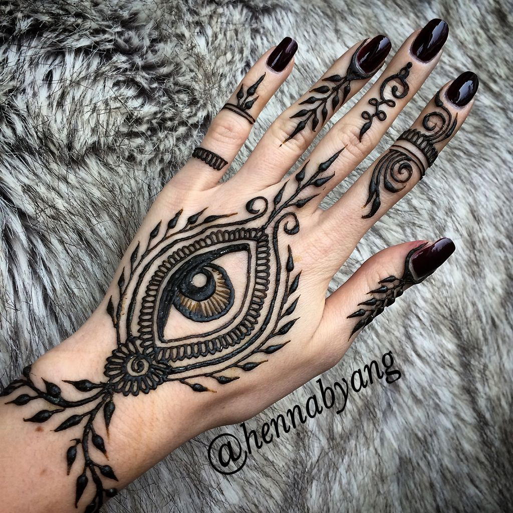 Henna Eye Tattoo: One Of My Favorite Designs With The Eye!