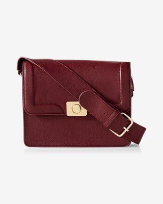 pebbled guitar-strap cross body bag