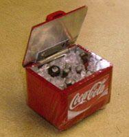 coca cola box cooler dolls house miniature