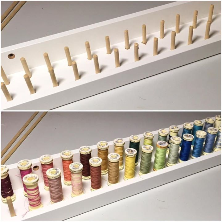IKEA hack - mosslanda picture ledge transformed into thread