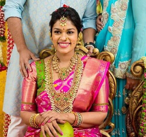 Chiranjeevi Daughter Sreeja S Wedding Pictures Fashion Driftz Bridal Jewellery Indian Indian Jewellery Design Bridal Blouse Designs