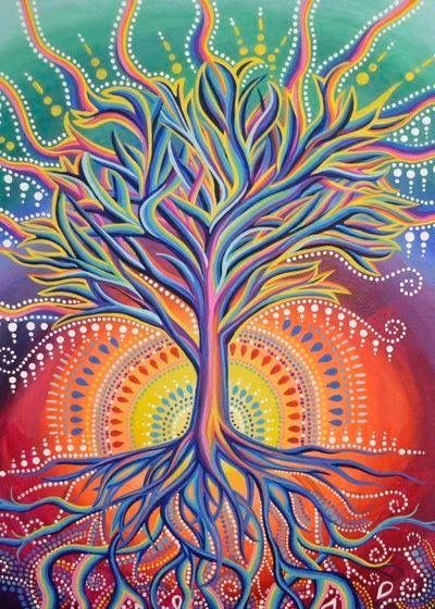 Tree Of Life Art By Kimi Sadanaga