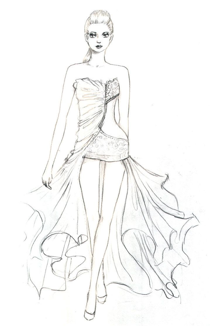 Fashion Design Coloring Pages For Kids And For Adults Colorir