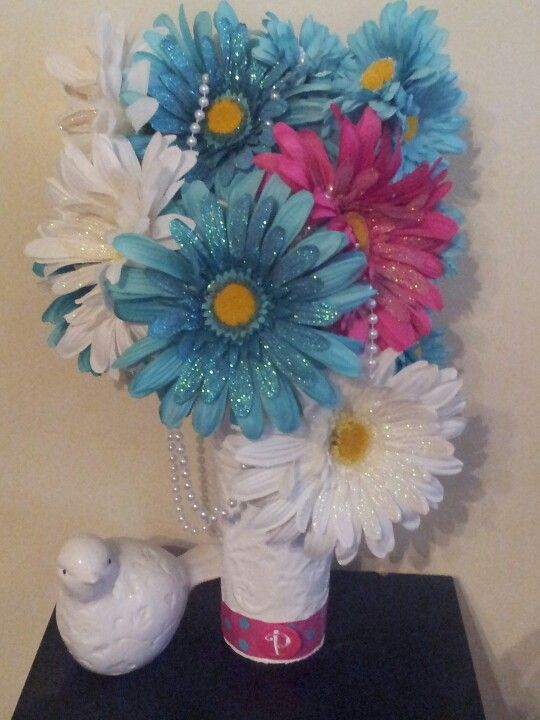 Ok Another Shabby Chic Creation I Love Gerber Daisies They