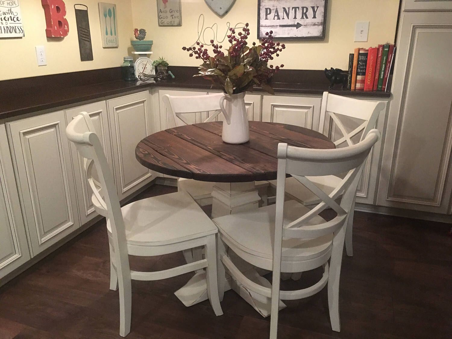 Ordinaire Dining Table, Round Table, Pedestal Table, Farmhouse Table, Dining Table,  Handmade Table, French Country Table, Kitchen Table | Pinterest | French  Country ...