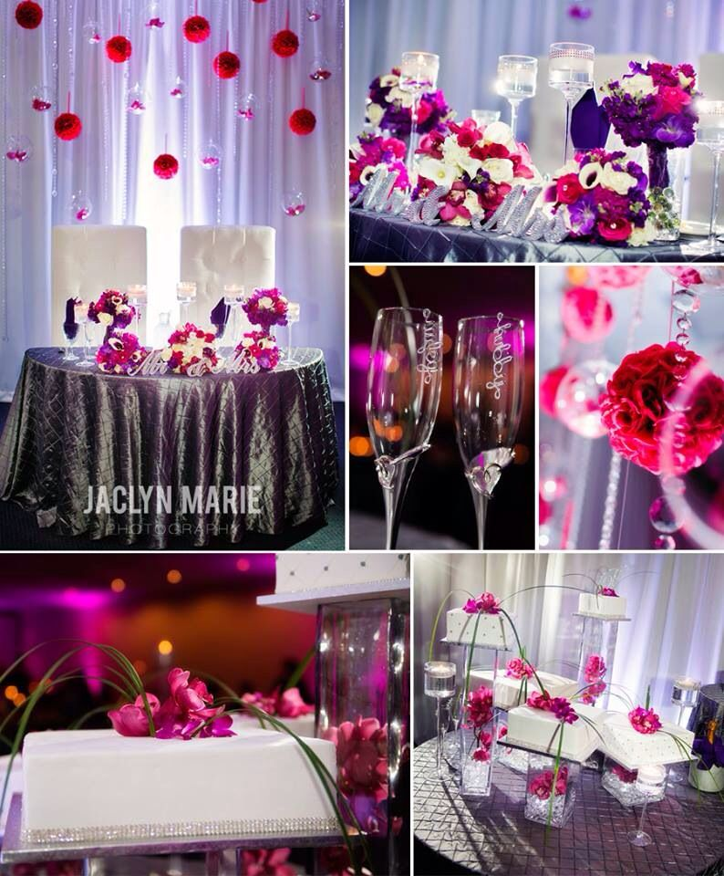 Wedding Inspiration: Wedding Reception / Purple Wedding