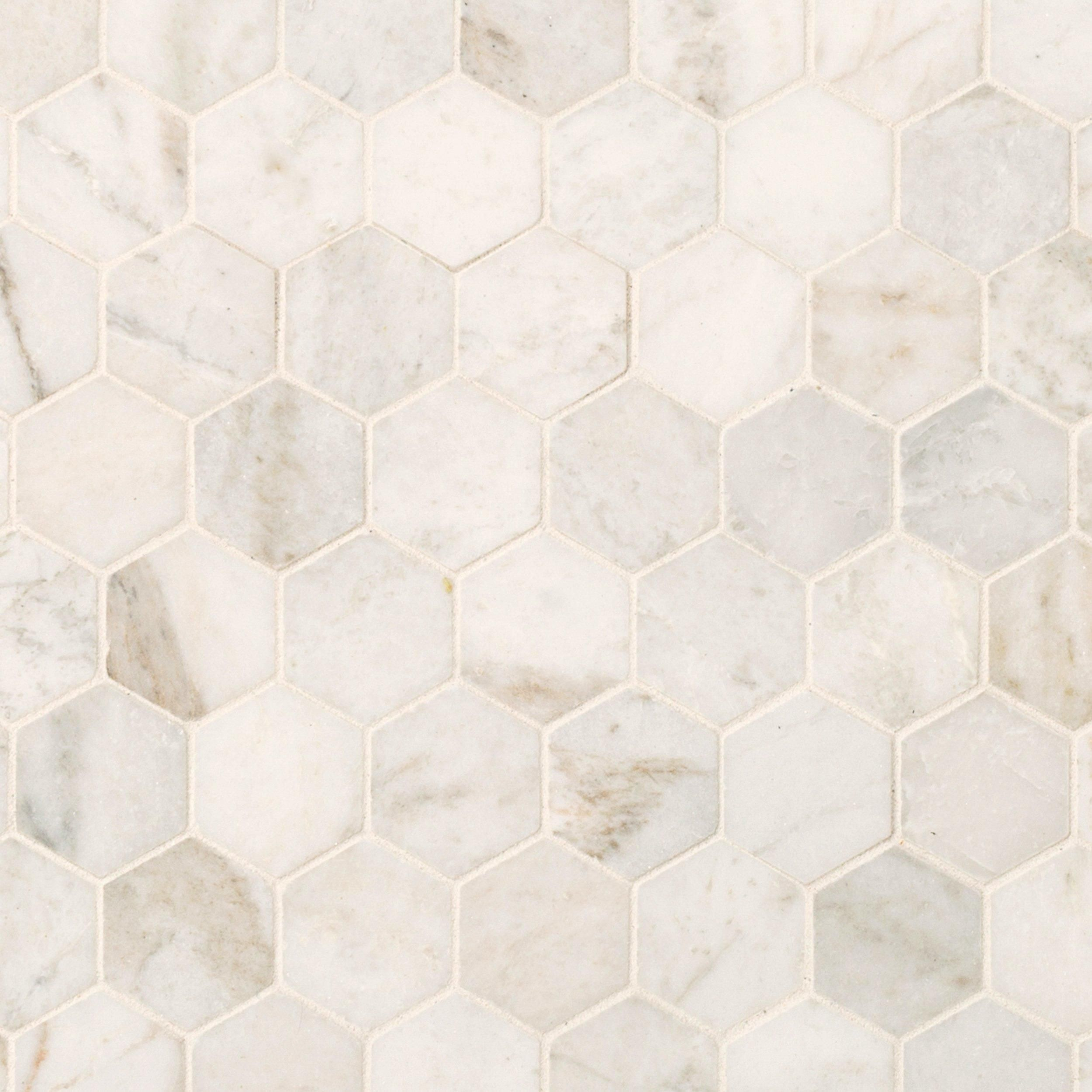 Bianco Orion Hexagon Polished Marble Mosaic In 2020 Marble Mosaic Stone Tile Flooring Polished Marble Tiles