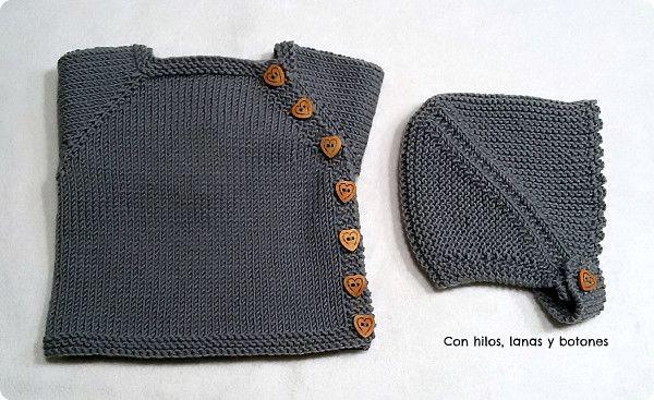 Con hilos, lanas y botones: Conjunto de chaqueta Puerperium gris con ...