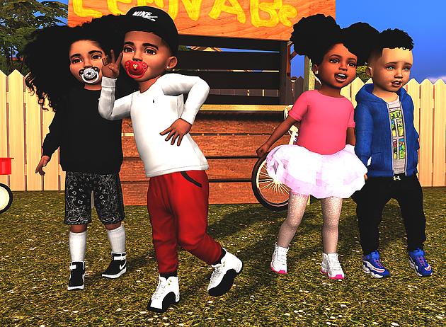 Ebonix   Sims 4 Shoes   Sims 4 toddler clothes, Sims 4 ...