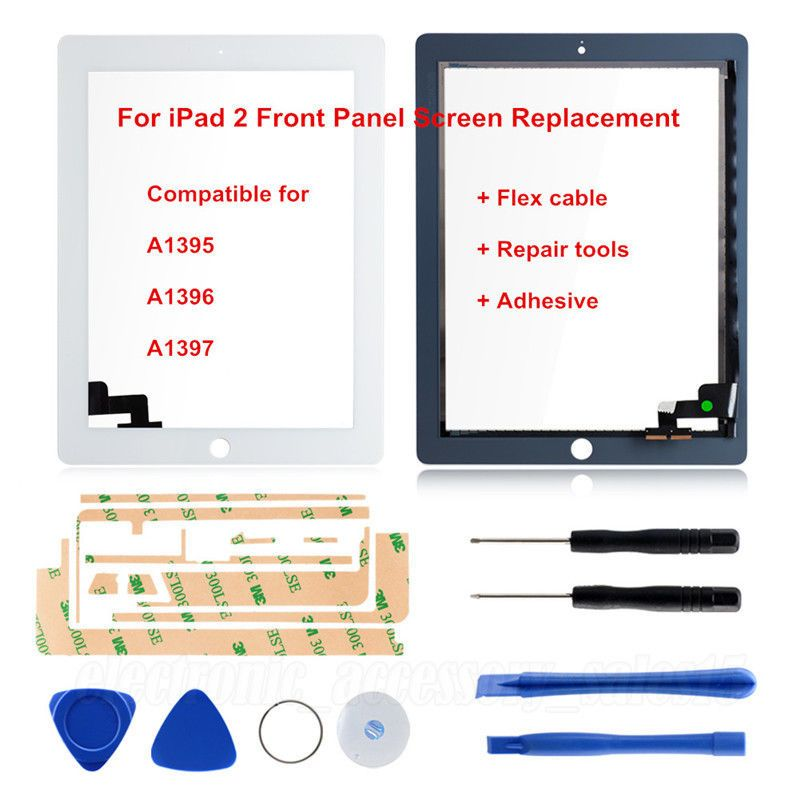 Touch Screen Lens Digitizer For iPad 2 A1395 A1396 A1397