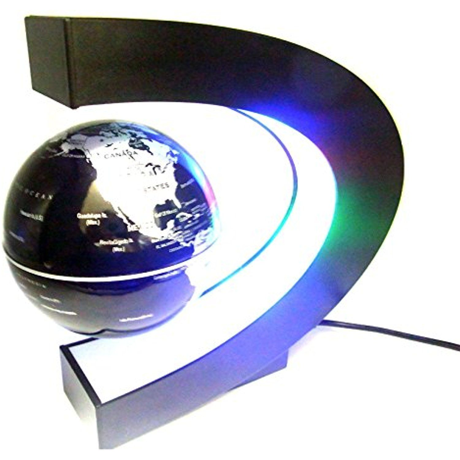 Sienoc magnetic levitation floating world map globe with led lights sienoc magnetic levitation floating world map globe with led lights for learning education teaching demo home gumiabroncs Images